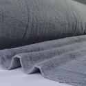 Tissu Eponge coton gris anthracite  lisiere cousue fermée .x1m