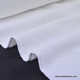 Tissu Eponge coton blanc lisiere cousue fermée .x1m