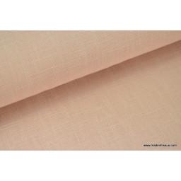Tissu Lin lavé rose poudré pour confection x50cm