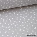 Tissu coton oeko tex dessin triangles Gris  .x1m
