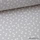 Tissu 100% coton dessin triangles Gris  x50cm