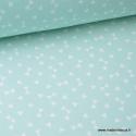 Tissu coton oeko tex dessin triangles Menthe