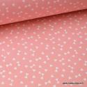 Tissu 100% coton dessin triangles Corail  .x1m