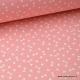 Tissu 100% coton dessin triangles Corail  x50cm