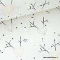 Tissu 100% coton imprimé rênes géométriques Or .x1m