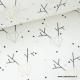 Tissu 100% coton imprimé rênes géométriques Or x50cm