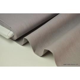 Tissu Lin lavé gris pour confection x50cm