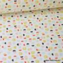 Tissu 100%coton imprimé graphique Toco  x1m
