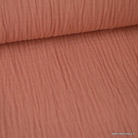 Tissu Double gaze coton Marsala