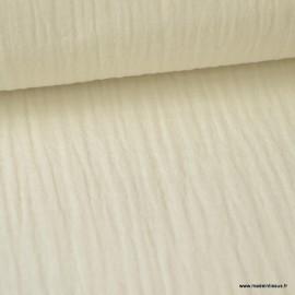 Tissu Double gaze coton Ecru