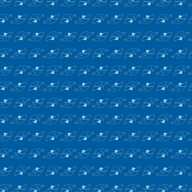 Tissu jersey Oeko tex imprimé petits requins fond bleu