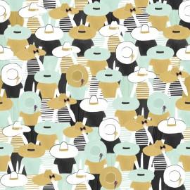 Tissu Toile de coton Canva imprimé Chapeaux - Katia Fabrics