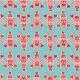 Tissu Toile de coton Canva imprimé Homards - Katia Fabrics