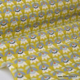 Cretonne coton imprimé fleurs SVEN