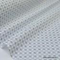 Tissu cretonne coton Ming Noir et blanc imprimé tendance Japonnais .x1m