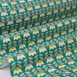 Tissu Cretonne coton imprimé fleurs SVEN