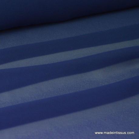 tissu Mousseline fluide polyester marine x50cm