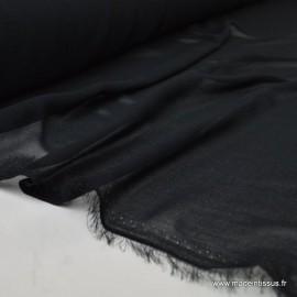 Tissu Mousseline coloris noir .