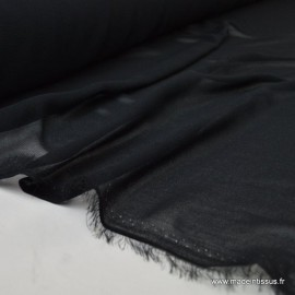 Tissu Mousseline coloris noir x50cm