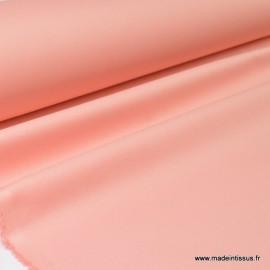 Tissu gabardine enduite étanche rose poudré