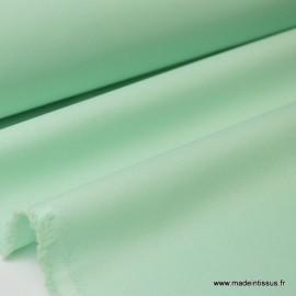 Tissu Gabardine enduite étanche menthe.
