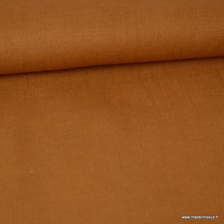 Tissu Lin camel pour confection .x1m