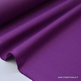 Gabardine enduite étanche violet.