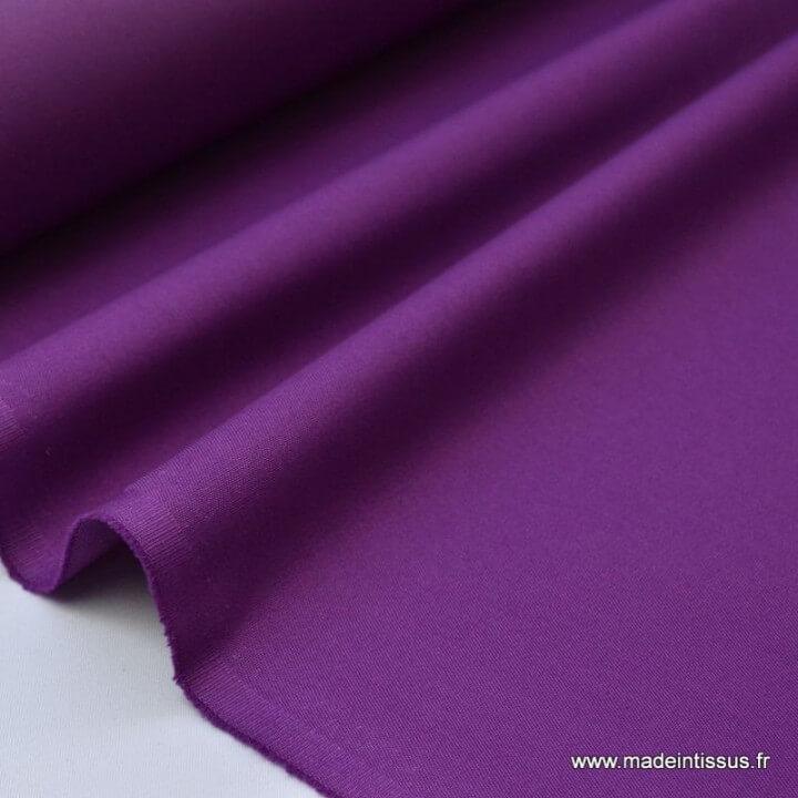 Tissu gabardine imperméable polyester coton violet x50cm