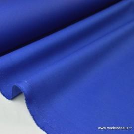Tissu Gabardine enduite étanche bleu royal.