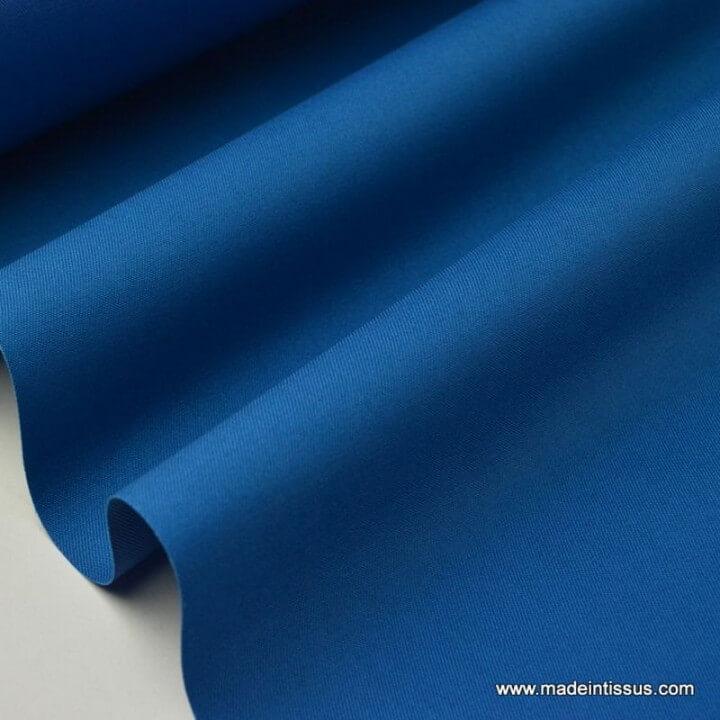 Tissu gabardine imperméable polyester coton Pétrole