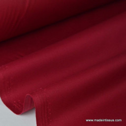 Tissu gabardine imperméable polyester coton rouge hermès x50cm