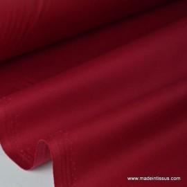 Tissu Gabardine enduite étanche rouge hermès.