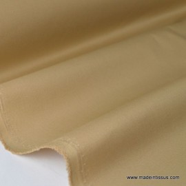 Tissu Gabardine enduite étanche sable