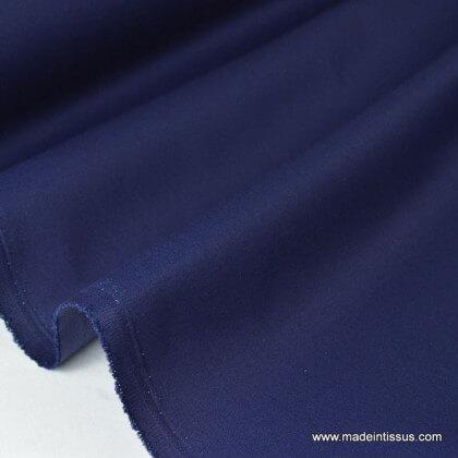 Tissu gabardine imperméable polyester coton marine