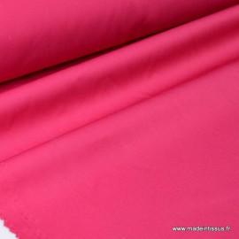 Tissu gabardine sergé coloris Rose Fuchsia