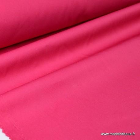 Tissu gabardine sergé coloris Rose Fuschia