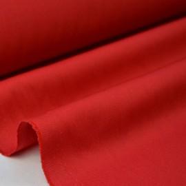Tissu gabardine sergé coloris rouge