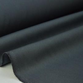 Tissu gabardine sergé coloris gris anthracite