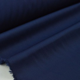 Tissu gabardine sergé coloris bleu marine