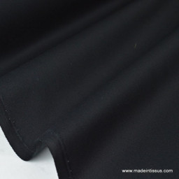 Tissu gabardine sergé coloris noir