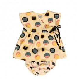 Patron robe Kimono et culotte pour bébé Katia Fabrics