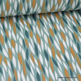 Tissu 100%coton imprimé graphique Badi  x1m