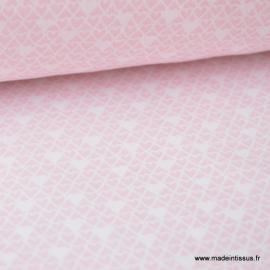 Tissu coton imprimé princesse coeurs rose