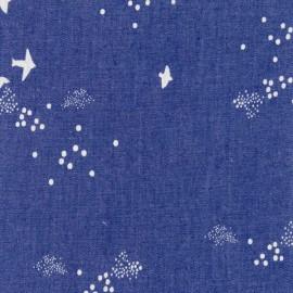 Tissu Jean Denim Oeko tex imprimé Oiseaux Japonais Katia Fabrics