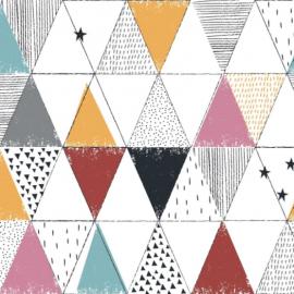 Tissu popeline Oeko tex imprimé Triangles géométriques Circus Katia Fabrics