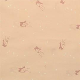 Tissu popeline Oeko tex imprimé chaussons de danse fond rose Katia Fabrics
