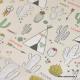 Tissu coton oeko tex motifs Tipis et Cactus