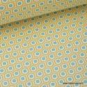 Tissu cretonne coton jaune imprimé tendance graphique .x1m