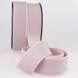Elastique METAL Souple 40mm coloris Rose et lurex Argent