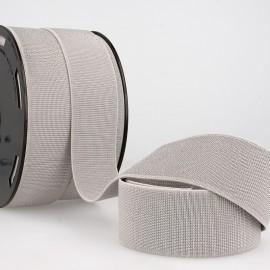 Elastique METAL Souple 40mm coloris Gris et lurex Argent